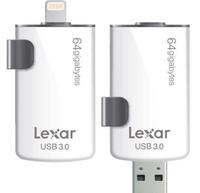 Lexar 64GB, USB 3.0/Lightning 64GB USB 3.0/Lightning Schwarz, Weiß USB-Stick (Schwarz, Weiß)