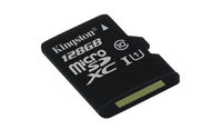 Kingston Technology microSDXC Class 10 UHS-I Card 128GB 128GB MicroSDXC UHS-I Klasse 10 Speicherkarte (Schwarz)