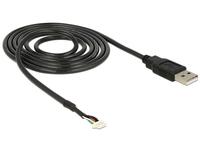 DeLOCK USB 2.0 A M / 5 pin V5 1.5m (Schwarz)