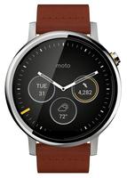 Motorola Moto 360 2Gen (Braun, Silber)