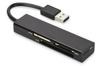 Ednet USB 3.0 MCR USB 3.0 Schwarz Kartenleser (Schwarz)