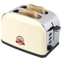 Bestron ATS100RE Toaster (Beige, Edelstahl)
