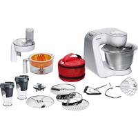 Bosch MUM58W56DE Küchenmaschine (Grau, Edelstahl, Weiß)