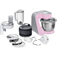 Bosch MUM58K20 Küchenmaschine (Grau, Pink, Edelstahl)