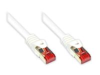 Alcasa 8060-005W 0.5m Cat6 S/FTP (S-STP) Weiß Netzwerkkabel (Weiß)