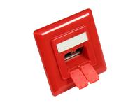 Alcasa GC-N0051R RJ-45 Telefon-/Antennen-/Steckdose (Rot)
