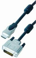 Alcasa 4510-DL5 Videokabel-Adapter (Blau, Weiß)