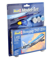 Revell Boeing 747-200 1:450 Assembly kit Fixed-wing aircraft (Mehrfarben)