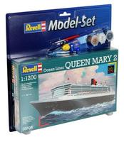 Revell Queen Mary 2 1:1200 Passenger ship Assembly kit (Mehrfarbig)