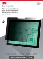 3M Blickschutzfilter für Microsoft Surface Pro 3 / Pro 4 - Querformat (Schwarz, Durchscheinend)
