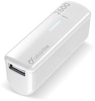 Cellular Line USB Pocket Charger 2600 (Weiß)