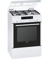 Siemens HX745225 Freistehend Gaskochfeld A Weiß Küchenherd (Weiß)