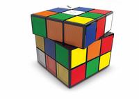 Bigben Interactive BT10 Mono 3W Kubus Blau, Grün, Rot, Weiß, Gelb (Blau, Grün, Orange, Rot, Weiß, Gelb)