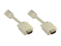 Alcasa VGA/VGA M/M 20m 20m VGA (D-Sub) VGA (D-Sub) Grau VGA-Kabel (Beige, Grau)
