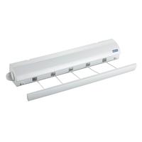 WENKO 63025100 Wand-Rack Weiß Wäscheständer & -leine (Weiß)