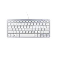 R-Go Tools Compact Tastatur, drahtgebundenen (Weiß)