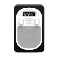 Pure Evoke D1 Tragbar Analog & digital Schwarz, Weiß Radio (Schwarz, Weiß)