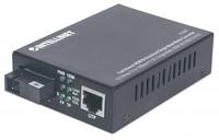 Intellinet 510547 100Mbit/s Einzelmodus Schwarz Netzwerk Medienkonverter (Schwarz)