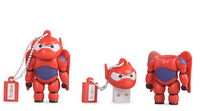 Tribe 8GB, Big Hero 6 - Baymax Armored 8GB USB 2.0 Type-A Rot USB-Stick (Rot)