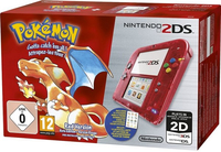 Nintendo 2DS + Pokémon Rote Edition (Rot, Transparent)