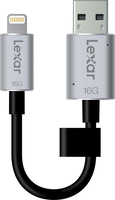 Lexar JumpDrive C20i 16GB 16GB USB 3.0/Lightning Schwarz, Silber USB-Stick (Schwarz, Silber)