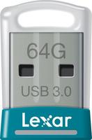 Lexar JumpDrive S45 64GB 64GB USB 3.0 Silber, Türkis USB-Stick (Silber, Türkis)