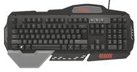 Trust GXT 850 USB Deutsch Schwarz Tastatur (Schwarz)
