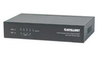 Intellinet PoE-Powered 5x Gigabit Fast Ethernet (10/100) Energie Über Ethernet (PoE) Unterstützung Schwarz (Schwarz)