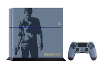 Sony PS4 1TB + Dualshock 4 +Uncharted 4 (Blau, Grau)