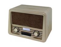Soundmaster NR920HBR Tragbar Analog Holz Radio (Holz)
