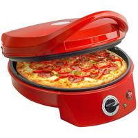 Bestron APZ400 Elektronische Pizzapfanne (Rot)