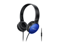 Panasonic RP-HF300ME-A Binaural Kopfband Schwarz, Blau Mobiles Headset (Schwarz, Blau)