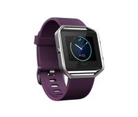 Fitbit Blaze LCD Schwarz, Edelstahl (Schwarz, Edelstahl, Violett)