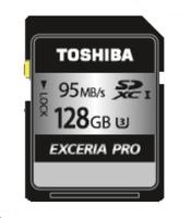 Toshiba EXCERIA PRO - N401 128GB SDXC UHS-I Klasse 3 Speicherkarte (Schwarz)