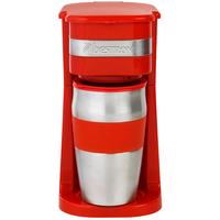 Bestron ACM111R Drip coffee maker 0.42l 2Tassen Rot, Edelstahl Kaffeemaschine (Rot, Edelstahl)