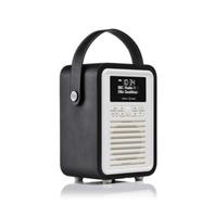 View Quest Retro Mini Tragbar Digital Schwarz, Weiß Radio (Schwarz, Weiß)