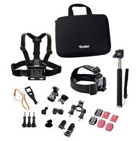 Rollei 21639 Camera mount Zubehör für Actionkameras (Schwarz, Orange, Rot)