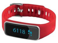 Medisana ViFit touch Wristband activity tracker OLED Kabellos Schwarz, Rot, Silber (Schwarz, Rot, Silber)