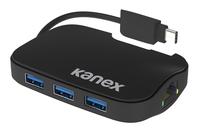 Kanex K181-1046-BK USB 3.0 (3.1 Gen 1) Type-C 1000Mbit/s Schwarz Schnittstellenhub (Schwarz)