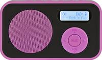 Telestar DABMAN 12 Tragbar Analog & digital Schwarz Radio (Schwarz, Pink)