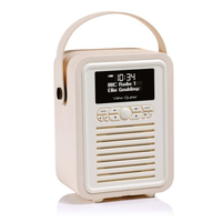 View Quest Retro Mini Tragbar Digital Pink Radio (Pink)