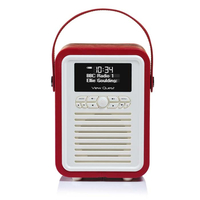View Quest Retro Mini Tragbar Rot Radio (Rot)