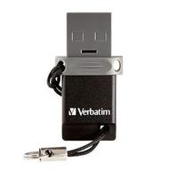 Verbatim Dual Drive OTG/USB 2.0 16GB 16GB USB 2.0/Micro-USB Schwarz, Silber USB-Stick (Schwarz, Silber)