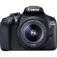 Canon EOS 1300D + EF-S 18-55 III + EF 75-300 III + Wasserabweisende Kameratasche 100EG + 8 GB SD-Karte + Objektivreinigungstuch (Schwarz)