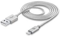 Cellular Line USBDATACLLMFIIPH6S USB A Lightning Silber Handykabel (Silber)