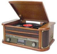 Soundmaster NR545DAB Plattenspieler (Braun, Holz)