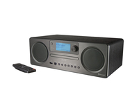 PEAQ PDR350BT-B Digital Schwarz Radio (Schwarz)