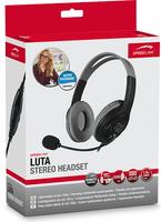 SPEEDLINK LUTA Binaural Kopfband Schwarz Headset (Schwarz)
