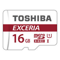 Toshiba EXCERIA M302-EA 16GB MicroSDHC UHS-I Class 10 Speicherkarte (Rot, Weiß)