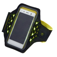 Hama 177745 5.5Zoll Mobile phone armband Schwarz, Gelb Handy-Schutzhülle (Schwarz, Gelb)